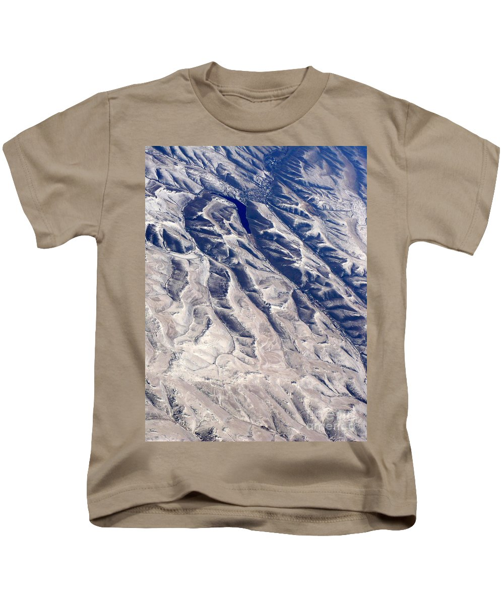 Aerial Kids T-Shirt featuring the photograph Hills And Valleys Aerial by Carol Groenen