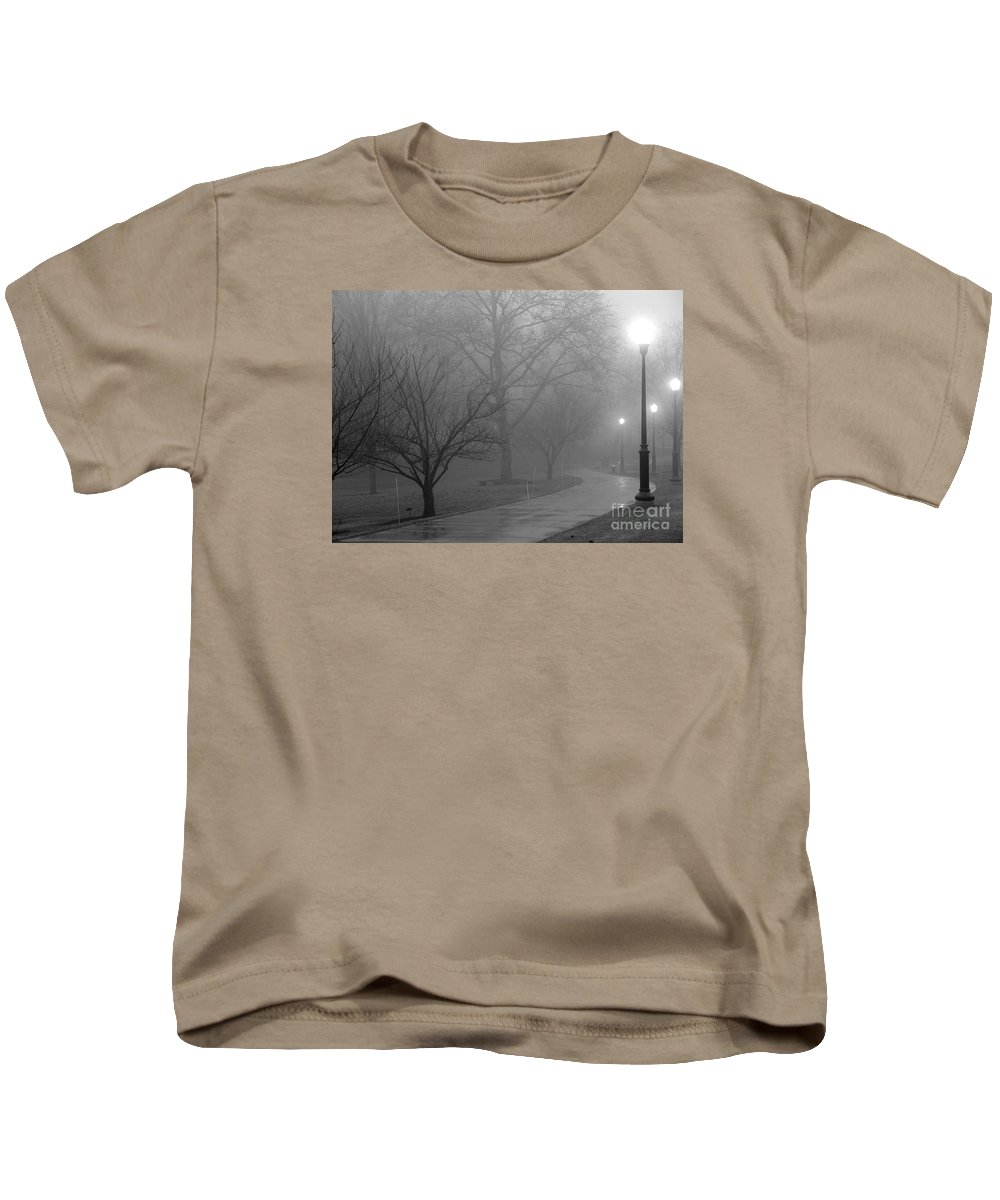 Path Kids T-Shirt featuring the photograph Holiday Fog by Bobby Cole