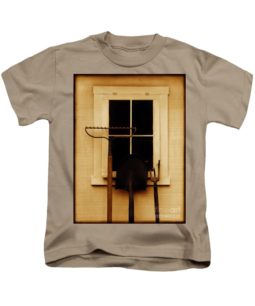 Tools Kids T-Shirt featuring the photograph Home Of The Free by Dana DiPasquale