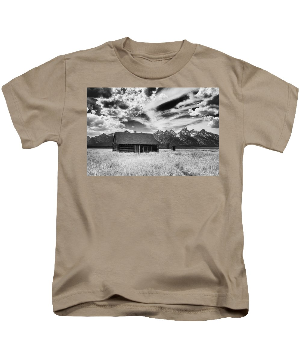 Grand Kids T-Shirt featuring the photograph Homestead Mormon Row by Hugh Smith
