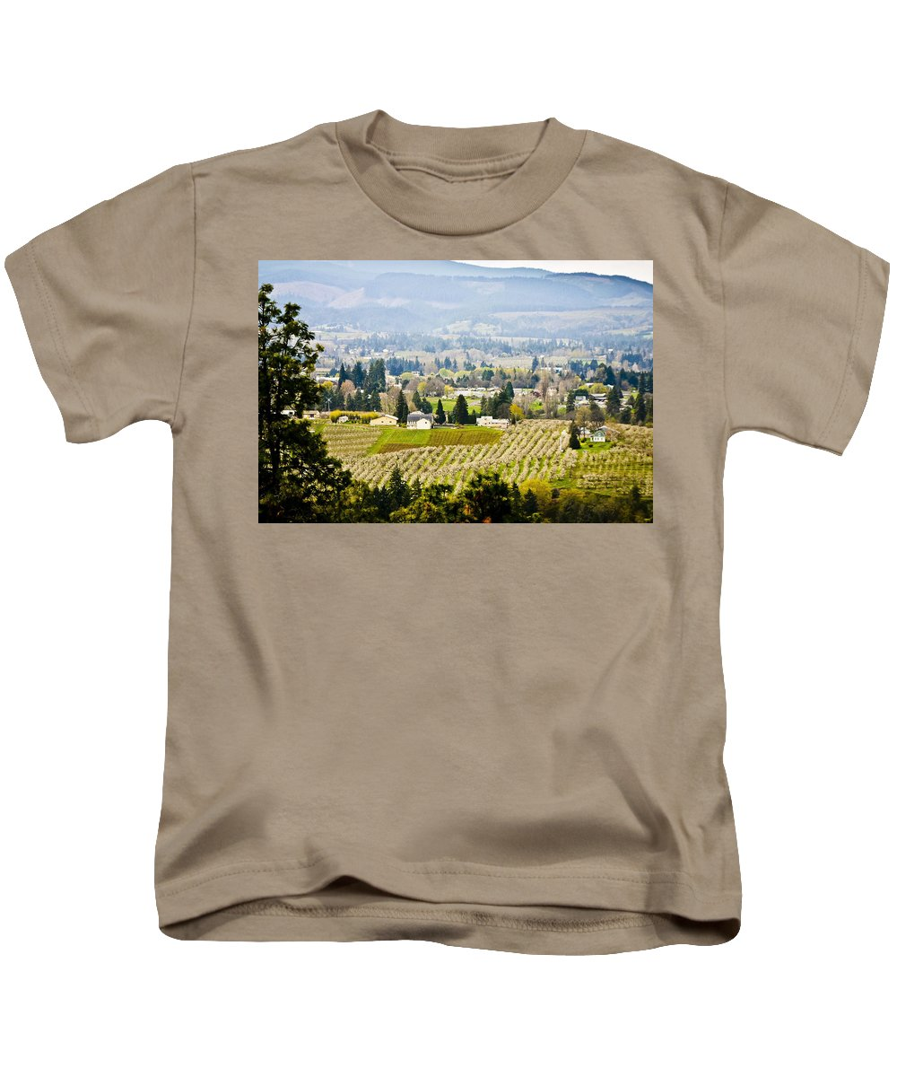Orchards Kids T-Shirt featuring the photograph Hood River by Albert Seger