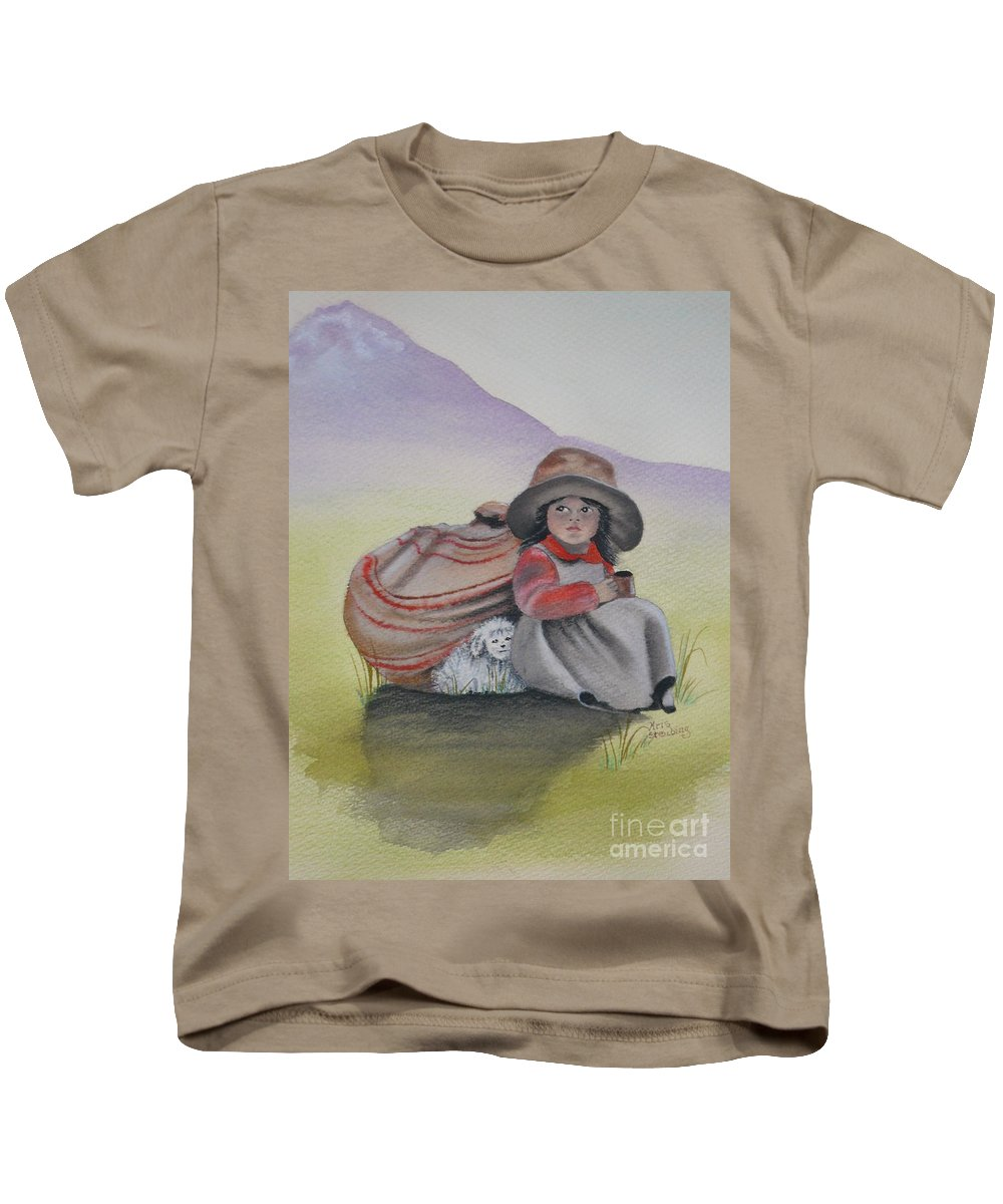Children Kids T-Shirt featuring the painting Hope by Kris Crollard