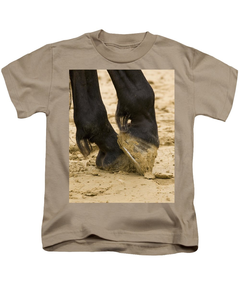 Animal Kids T-Shirt featuring the photograph Horses Feet by Ian Middleton