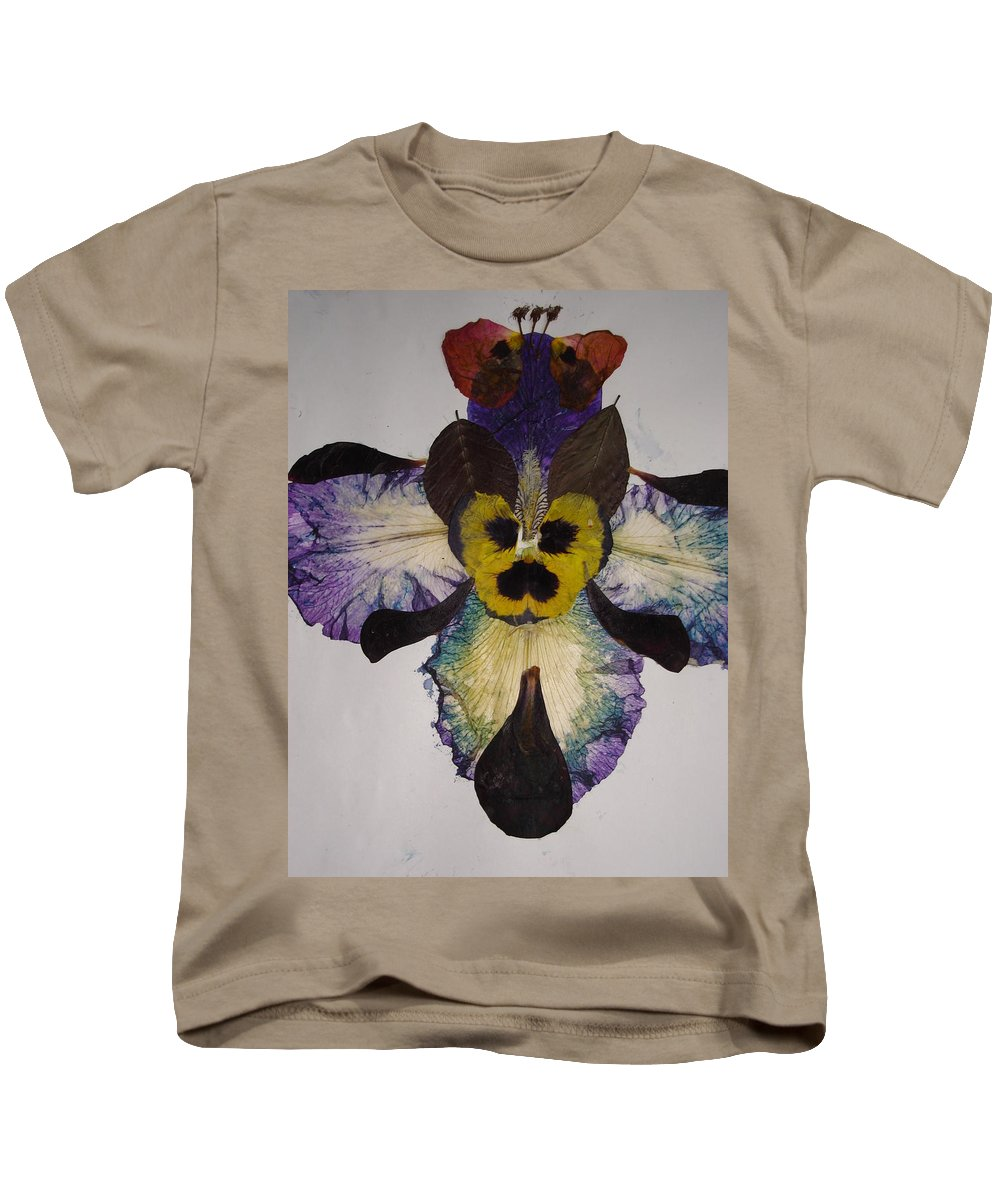 Flower-vision Kids T-Shirt featuring the mixed media Human Insect by Basant Soni