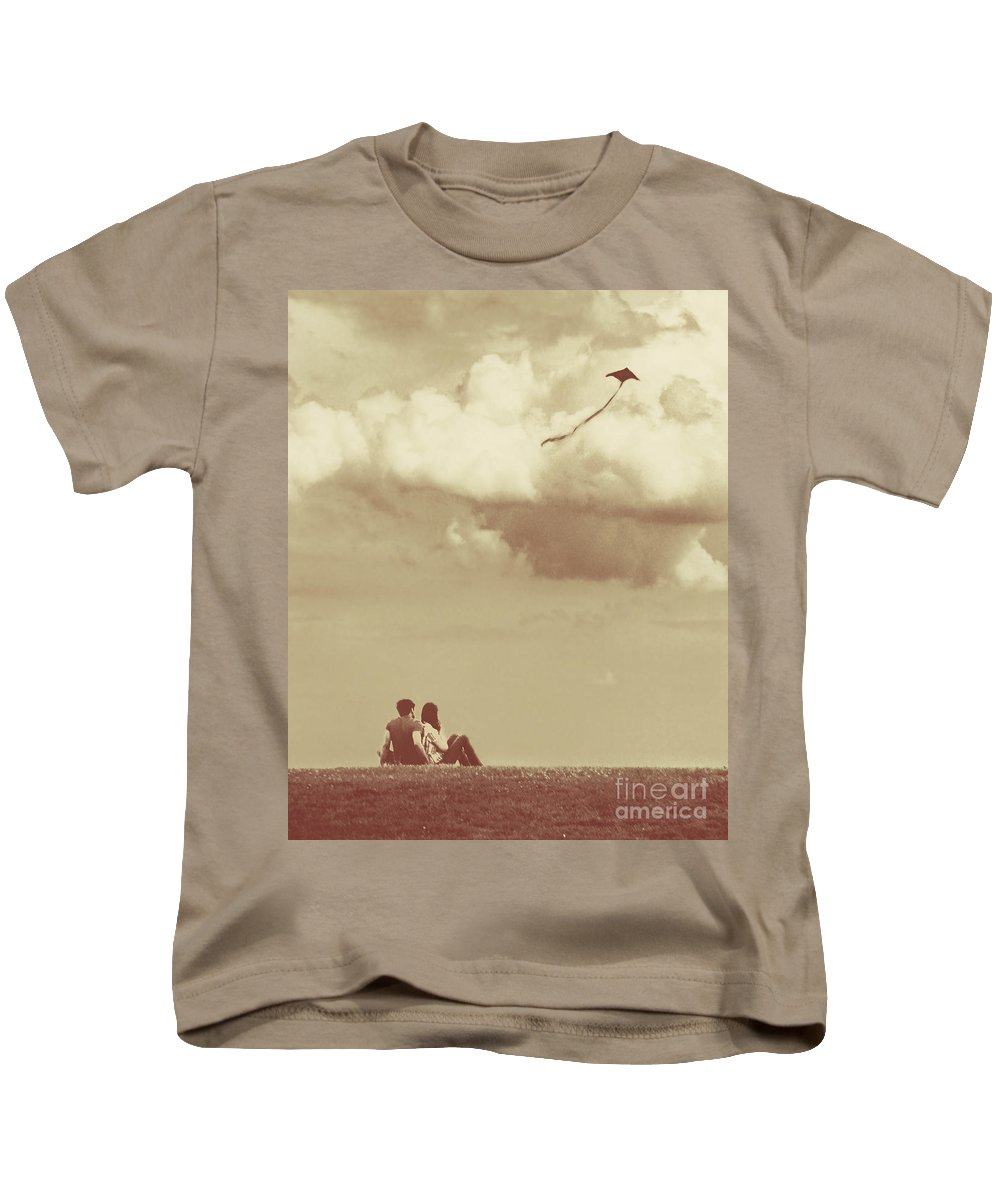 Dipasquale Kids T-Shirt featuring the photograph I Had A Dream I Could Fly From The Highest Swing by Dana DiPasquale