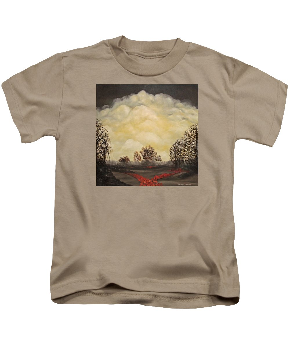 Landscape Kids T-Shirt featuring the painting I Had A Dream by John Stuart Webbstock