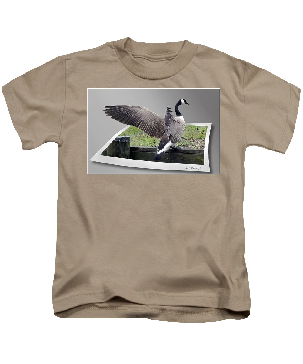 2d Kids T-Shirt featuring the photograph I Made It by Brian Wallace