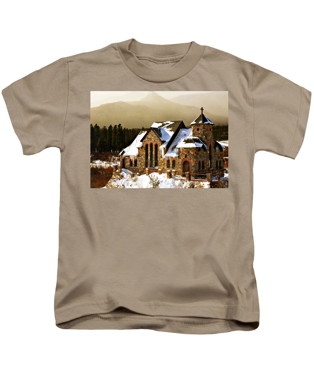 Americana Kids T-Shirt featuring the photograph Icicles by Marilyn Hunt
