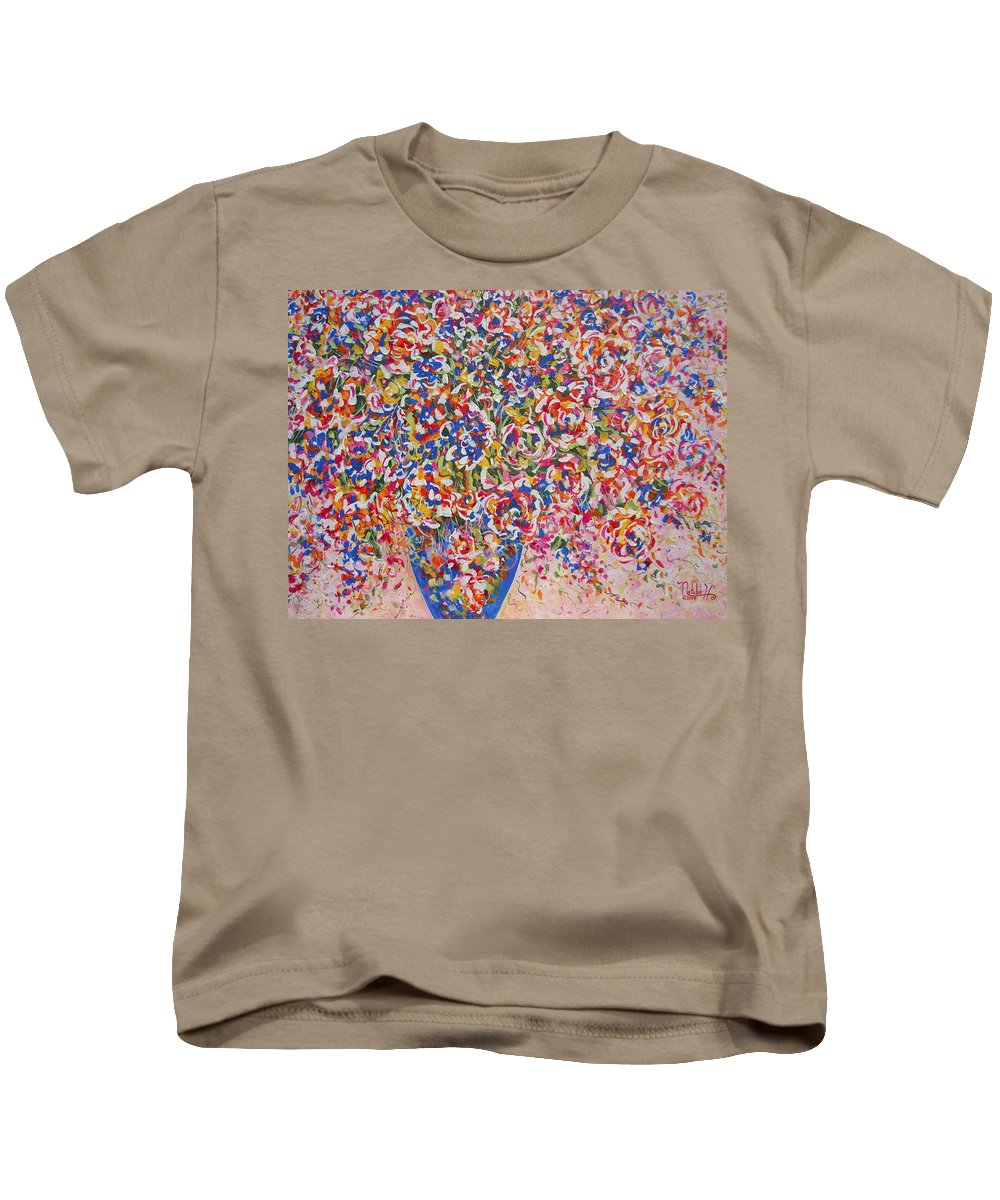 Flowers Kids T-Shirt featuring the painting Illumination by Natalie Holland