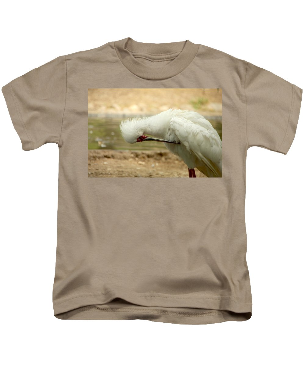 Bird Kids T-Shirt featuring the photograph I'm So Ashamed by Donna Blackhall
