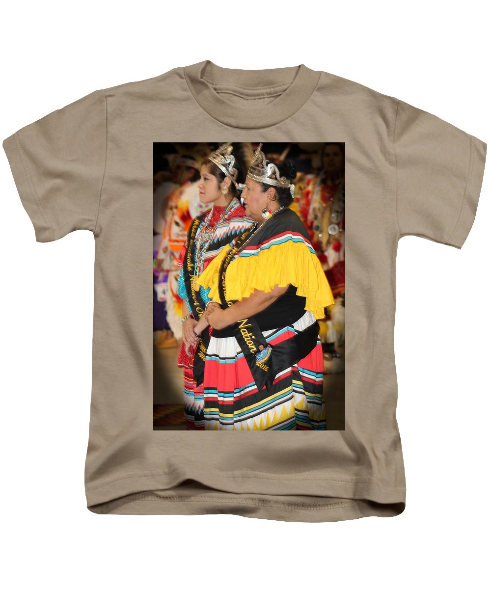 Native Americans Kids T-Shirt featuring the photograph Images Of Pride by Audrey Robillard