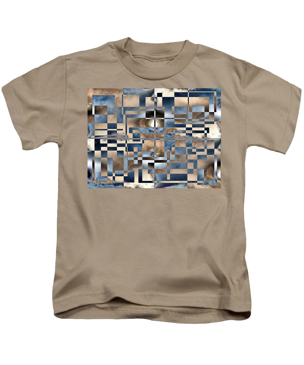 Abstract Kids T-Shirt featuring the digital art In A Fog by Tim Allen