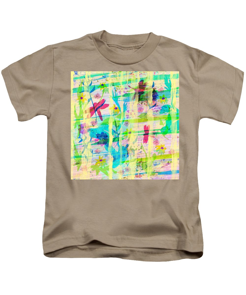 Abstract Kids T-Shirt featuring the digital art In The Garden by Rachel Christine Nowicki