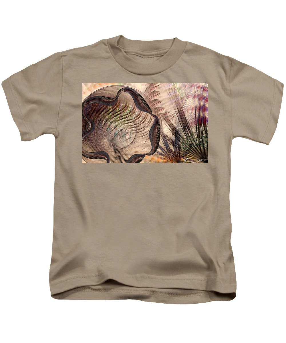 Abstract Kids T-Shirt featuring the digital art Incomprehension by Casey Kotas