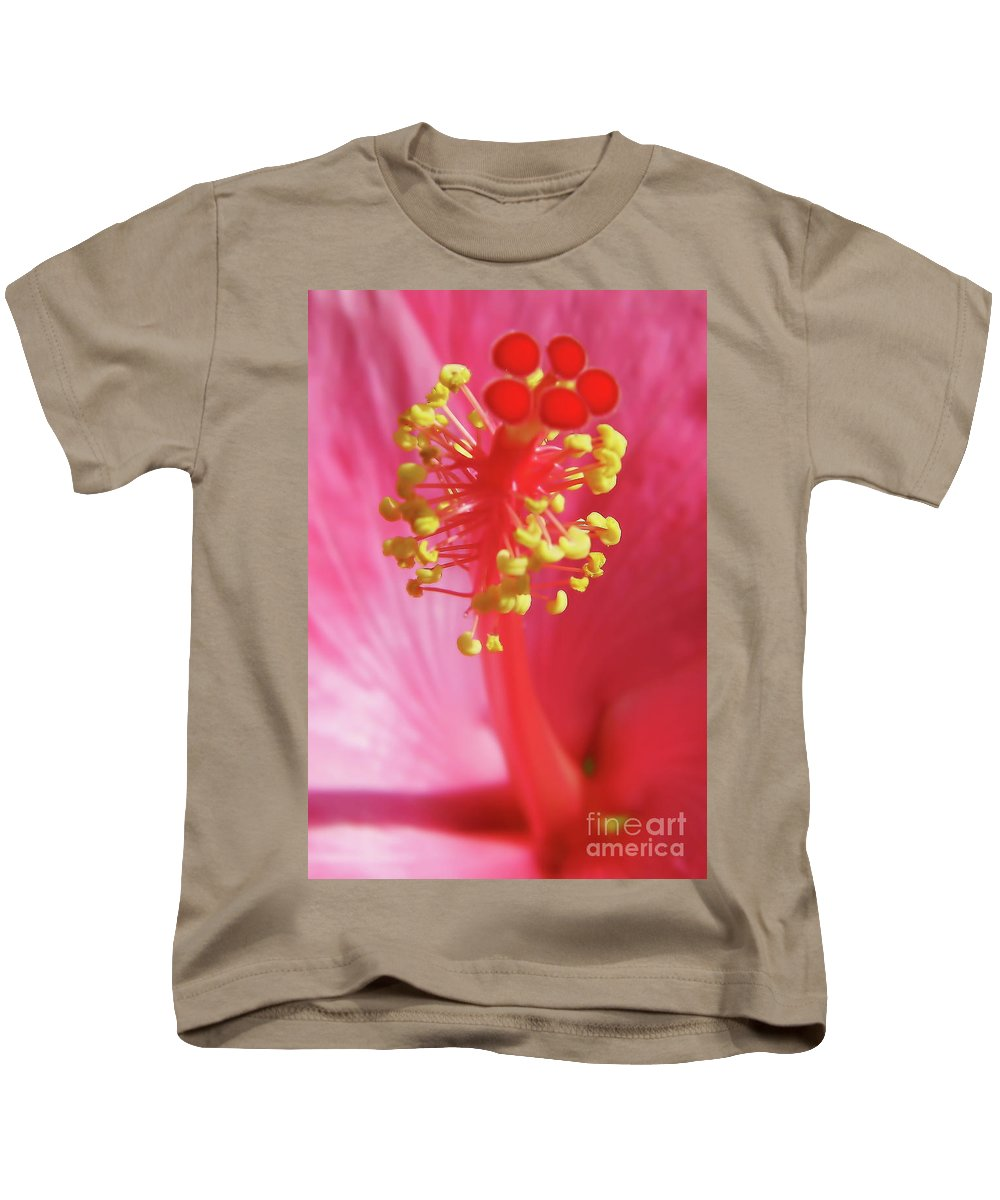 Hibiscus Kids T-Shirt featuring the photograph Inside The Hibiscus by D Hackett