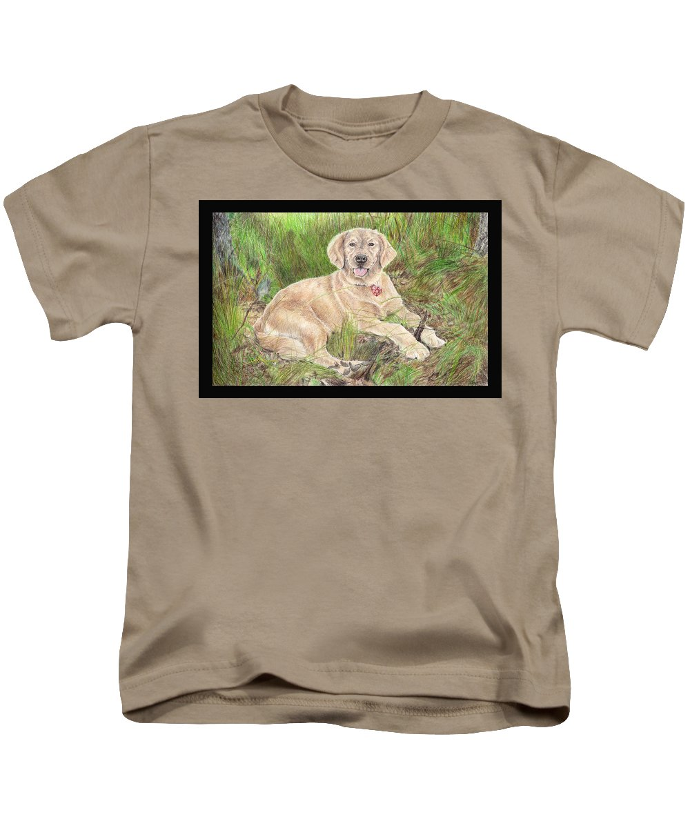 Quaint Kids T-Shirt featuring the painting Interuption by Adrienne