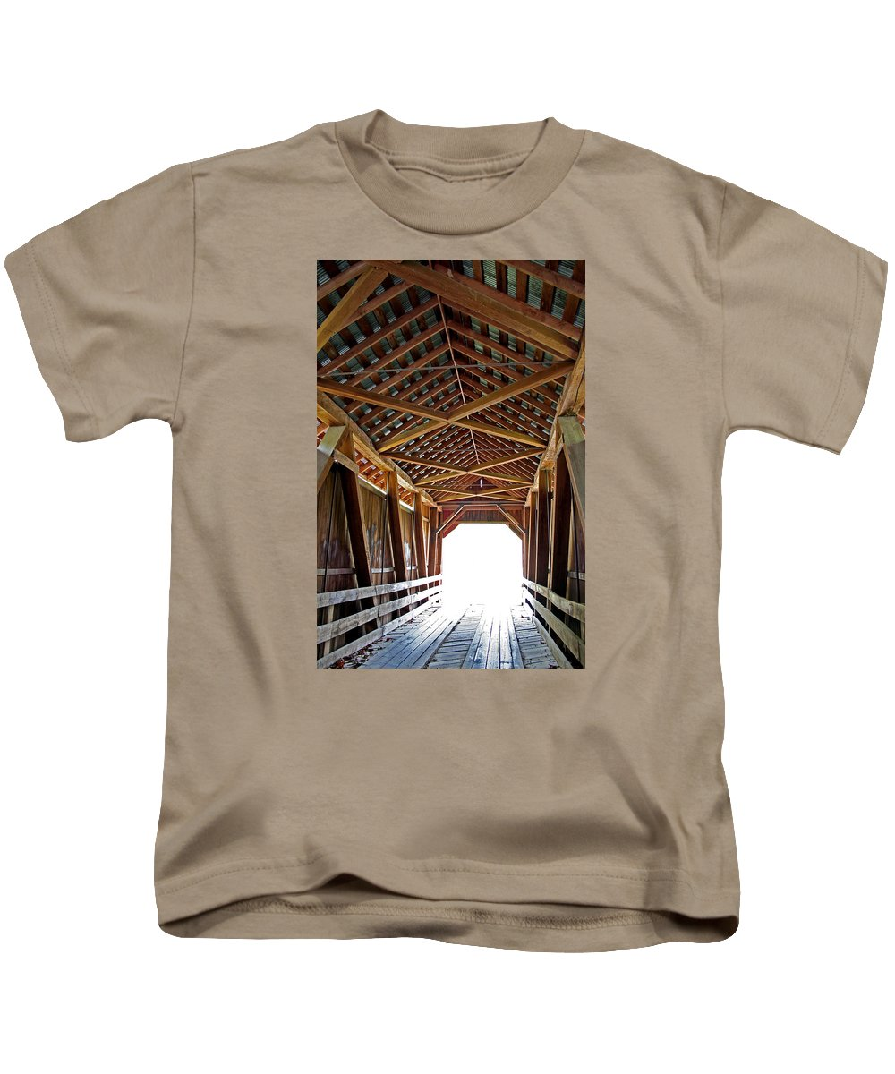 Light Kids T-Shirt featuring the photograph Into The Light by Margie Wildblood
