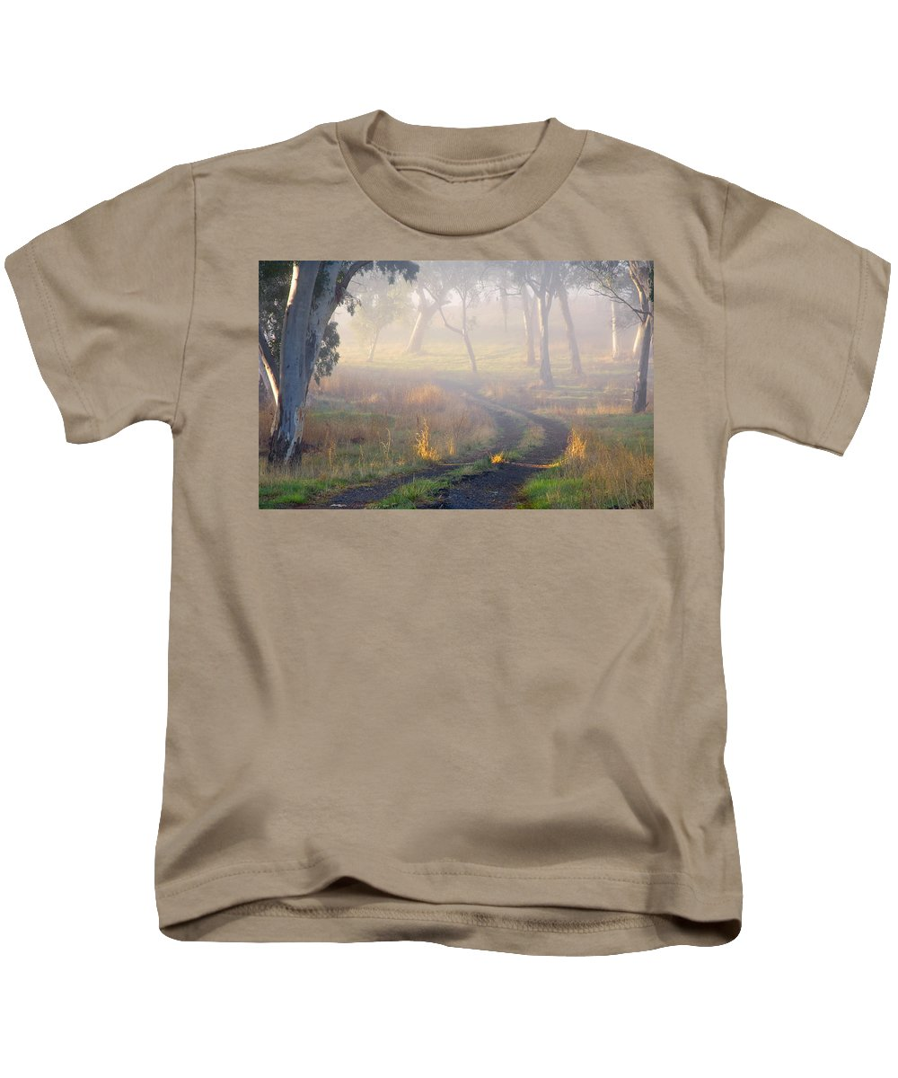 Mist Kids T-Shirt featuring the photograph Into The Mist by Mike Dawson