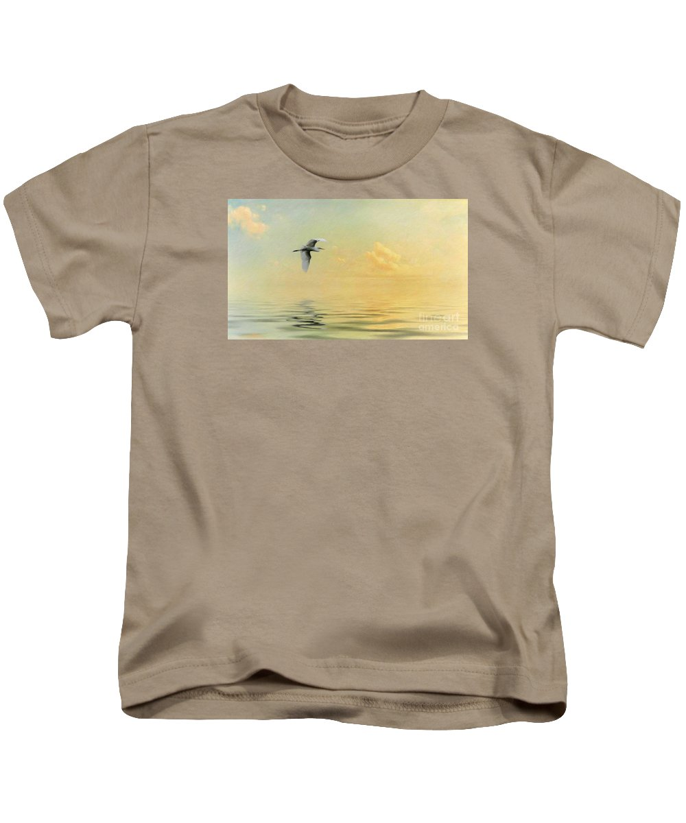 Into The Sunset Kids T-Shirt featuring the photograph Into The Sunset by Priscilla Burgers