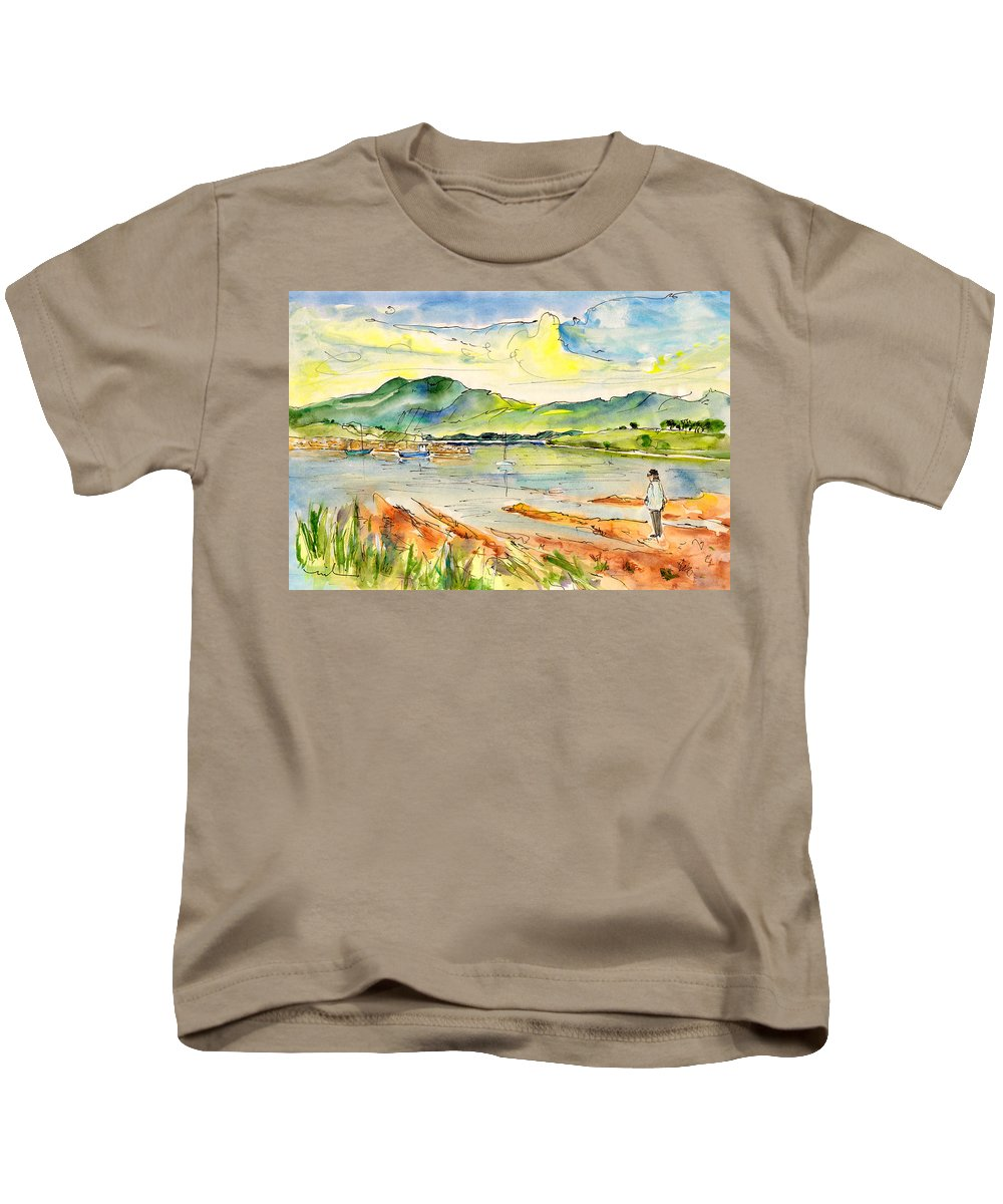 Travel Kids T-Shirt featuring the painting Isle Of Skye 01 by Miki De Goodaboom