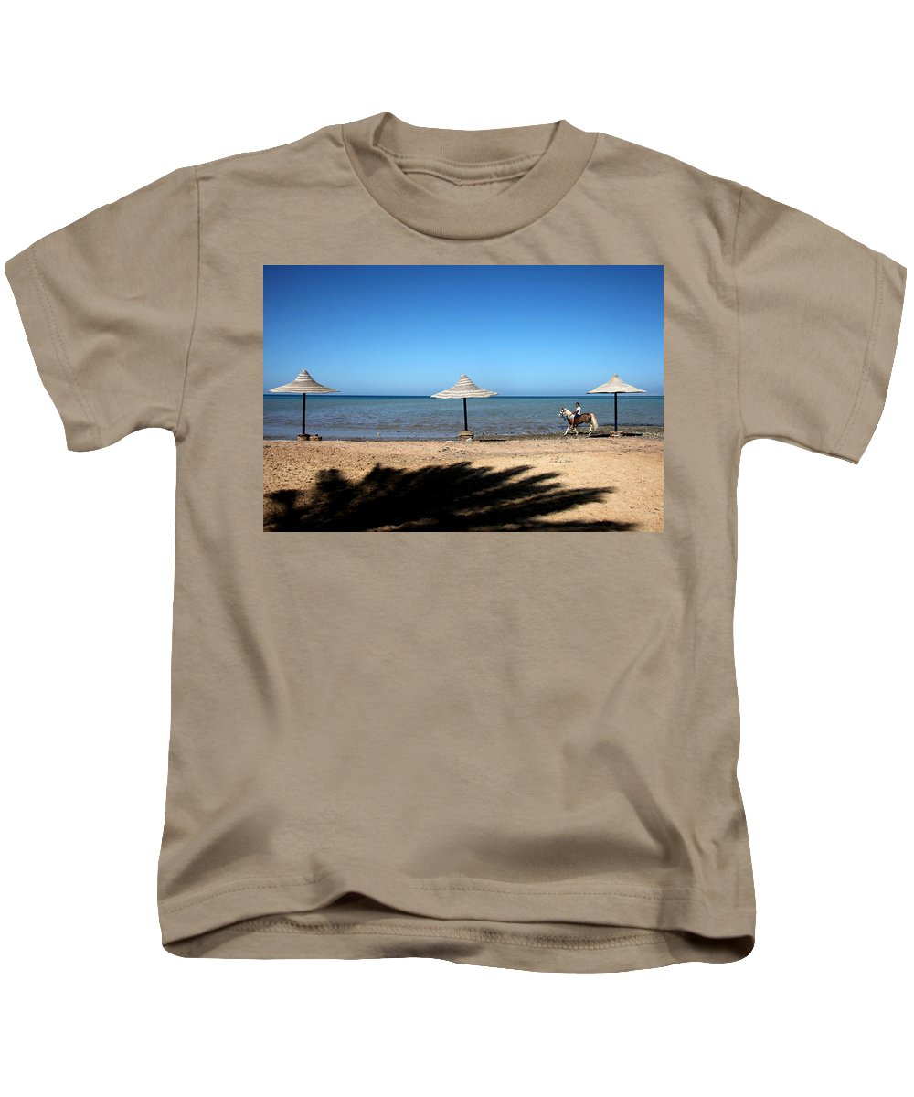 Jezcself Kids T-Shirt featuring the photograph It Is A Daily Event by Jez C Self