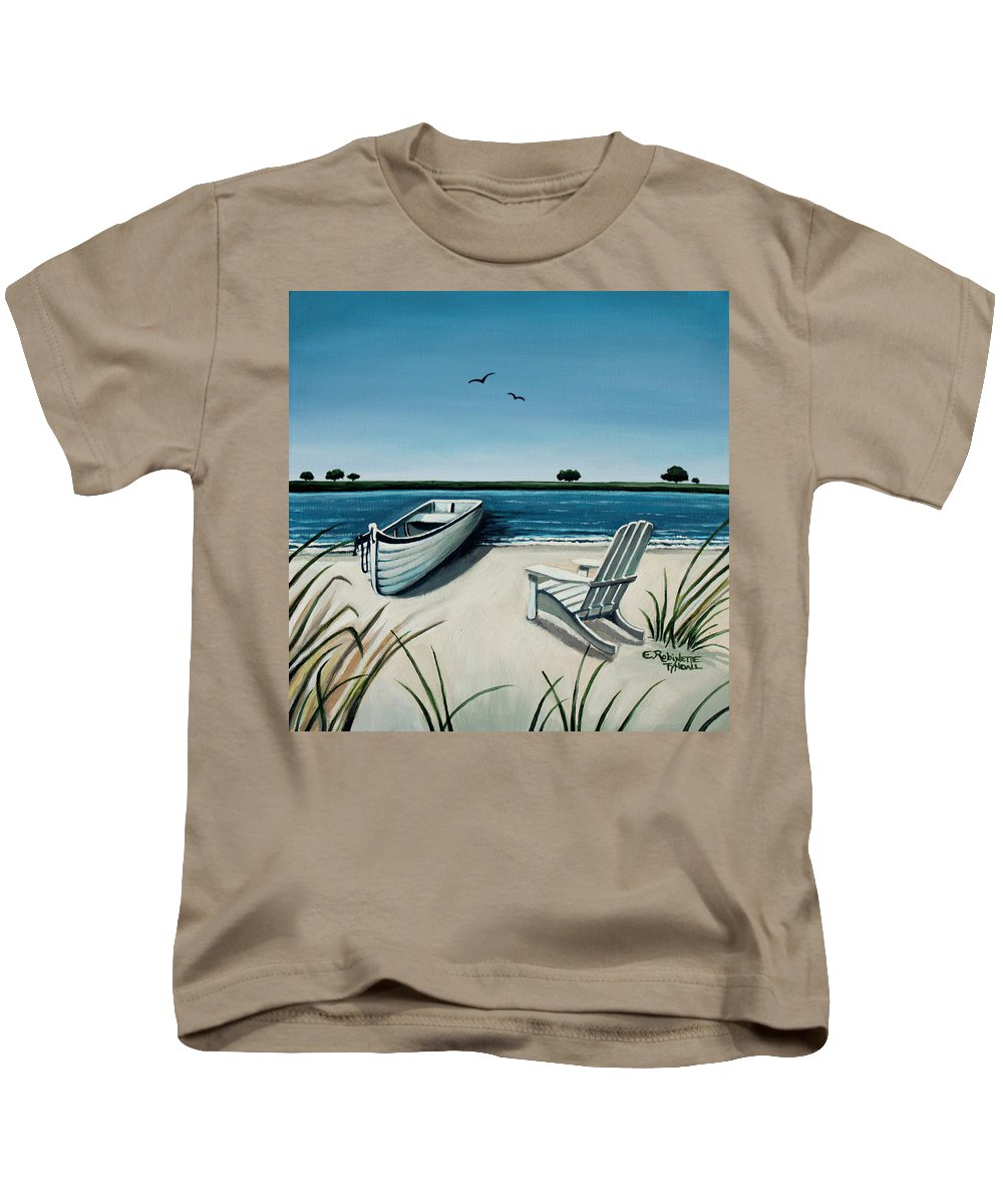 Beach Kids T-Shirt featuring the painting Its Summertime by Elizabeth Robinette Tyndall