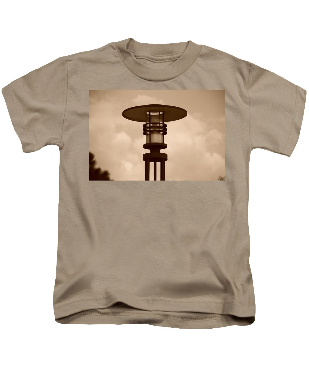 Sepia Kids T-Shirt featuring the photograph Japanese Lamp by Rob Hans