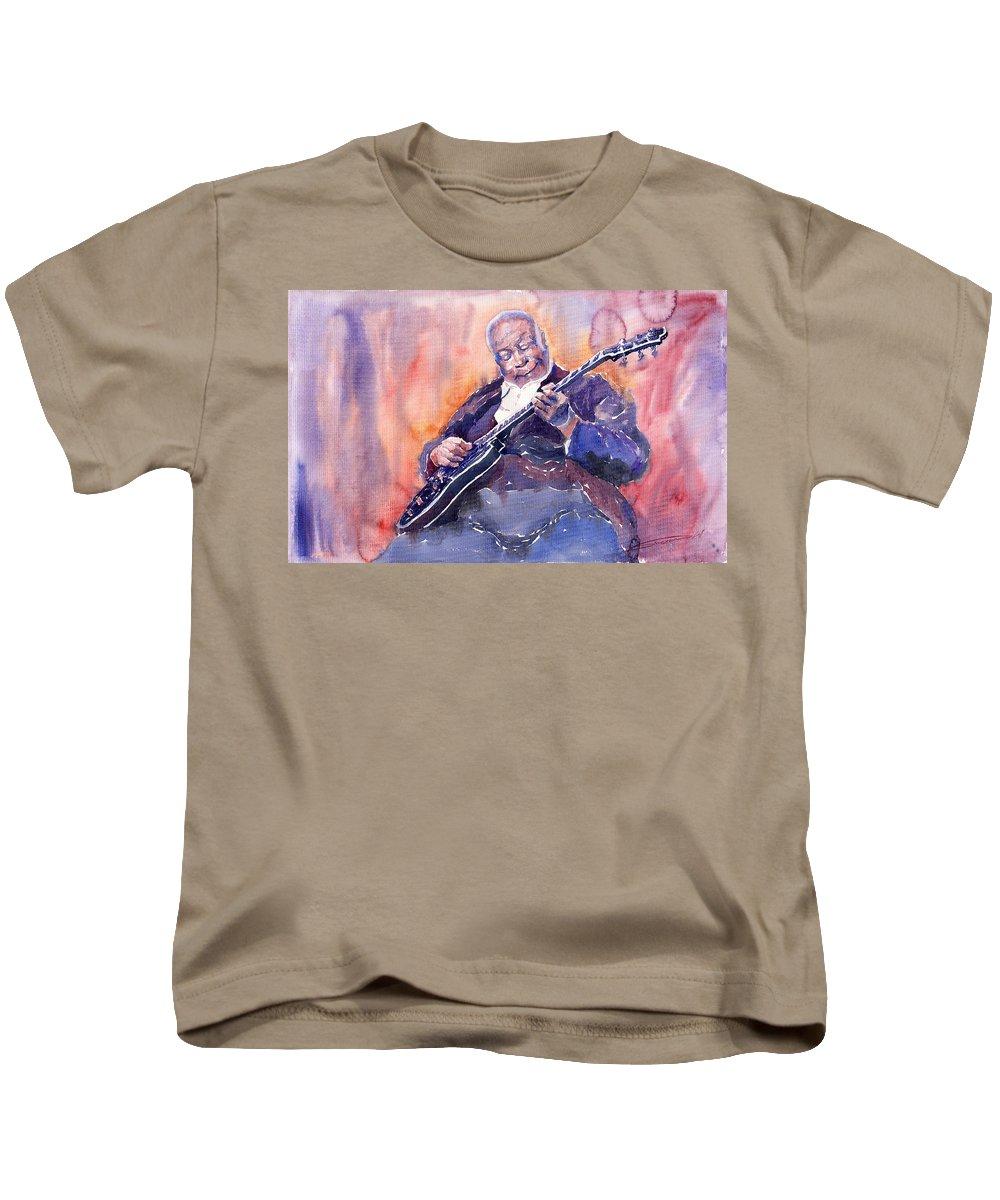 Jazz Kids T-Shirt featuring the painting Jazz B.b. King 03 by Yuriy Shevchuk