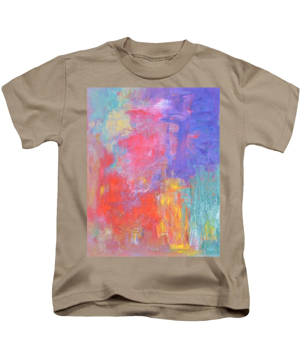 Abstract Kids T-Shirt featuring the painting Jazz Improvs by Marla McPherson