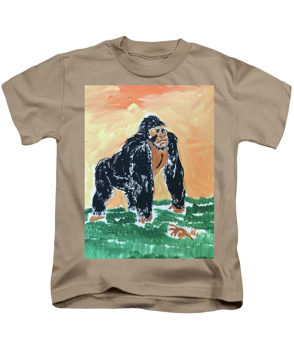 Jungle Kids T-Shirt featuring the painting Jungle Beast by Thom Futrell
