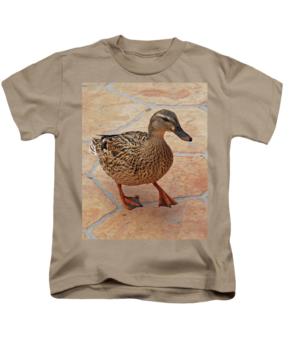 Kids T-Shirt featuring the photograph Just Ducky by Carol Eliassen