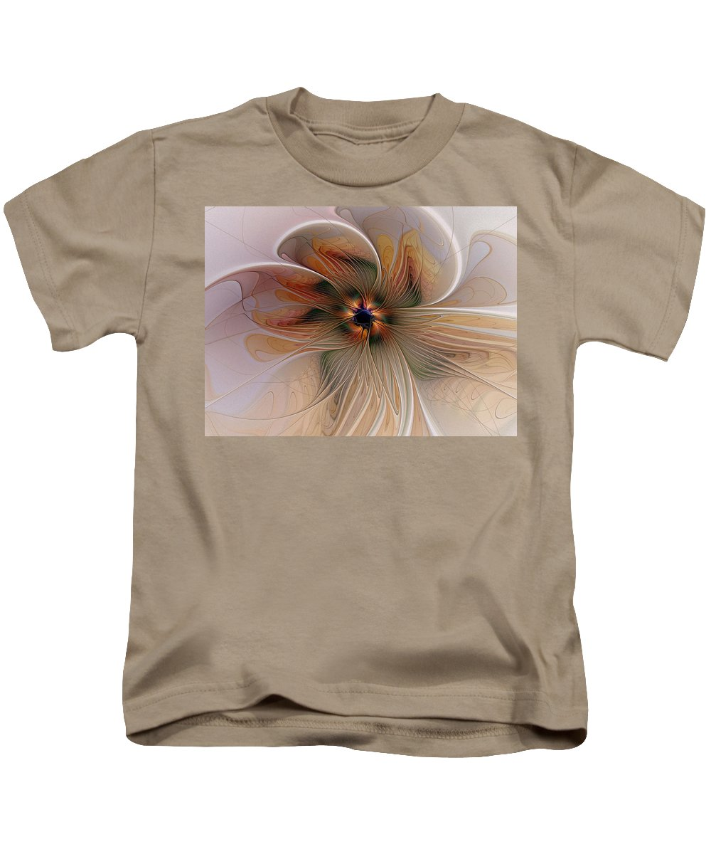 Digital Art Kids T-Shirt featuring the digital art Just Peachy by Amanda Moore