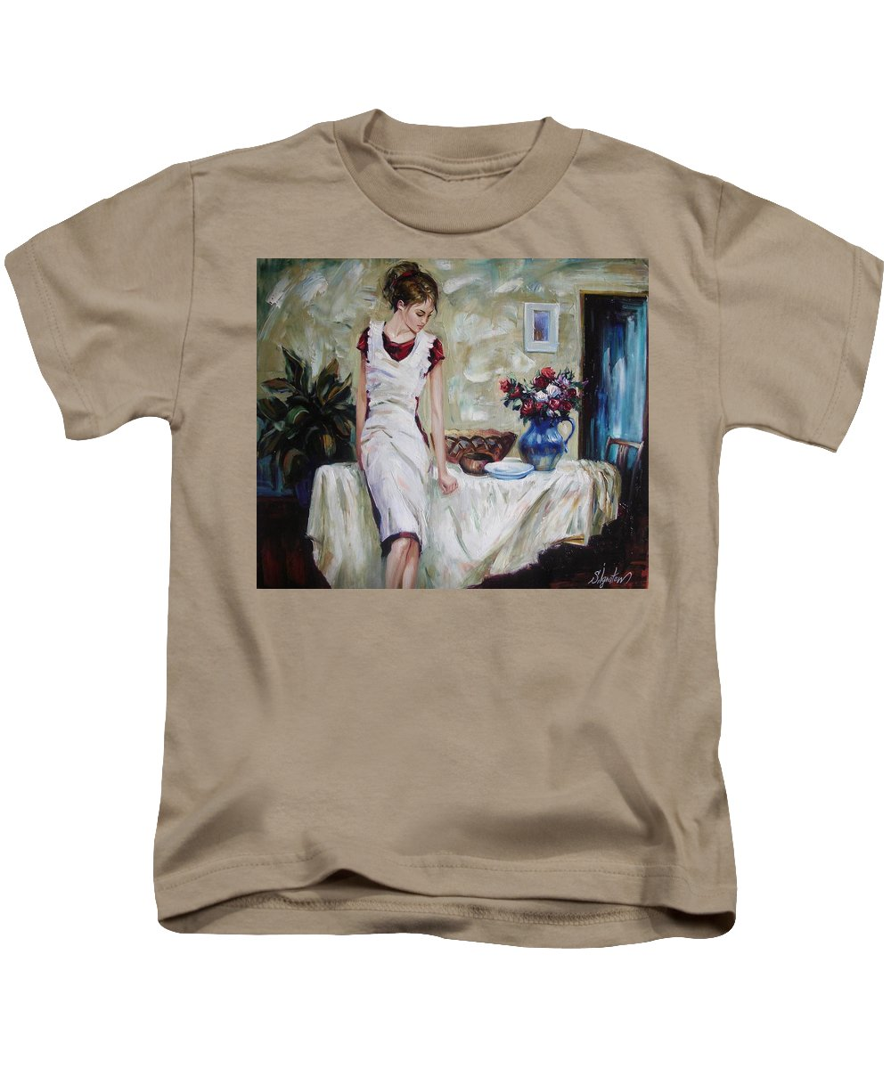 Figurative Kids T-Shirt featuring the painting Just The Next Day by Sergey Ignatenko