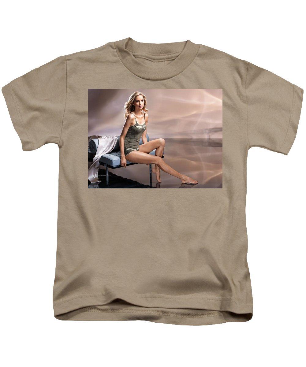 Kathrin Werderitsch Kids T-Shirt featuring the digital art Kathrin Werderitsch by Dorothy Binder