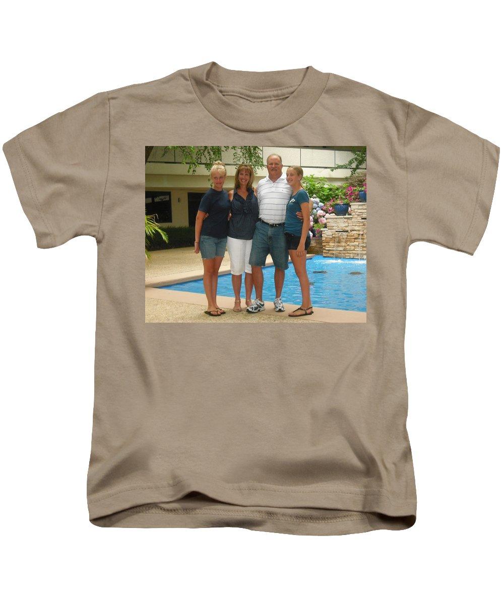 Family Kids T-Shirt featuring the photograph Kauffman Family by John Graziani