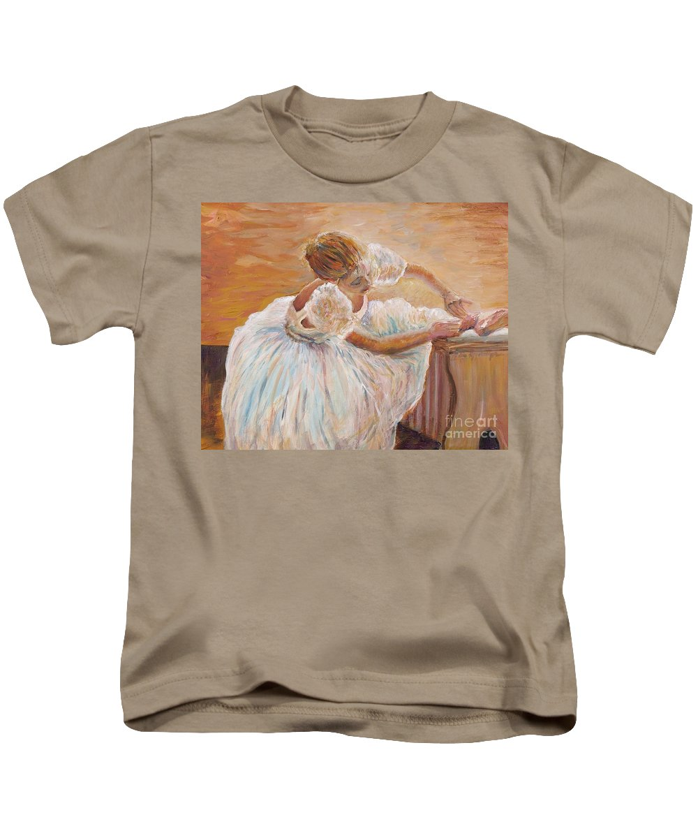 Dancer Kids T-Shirt featuring the painting Kaylea by Nadine Rippelmeyer