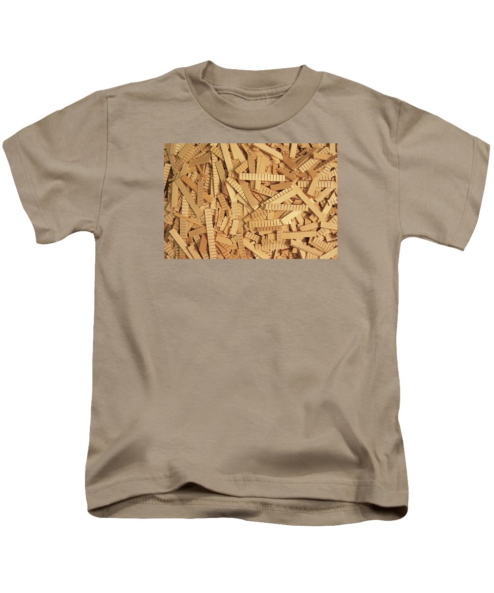Luthier Kids T-Shirt featuring the photograph Kerfing Ends by Grant Groberg