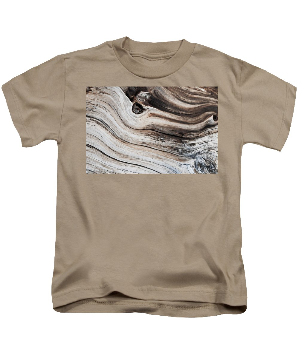 Wood Kids T-Shirt featuring the photograph Knotted by Colleen Coccia