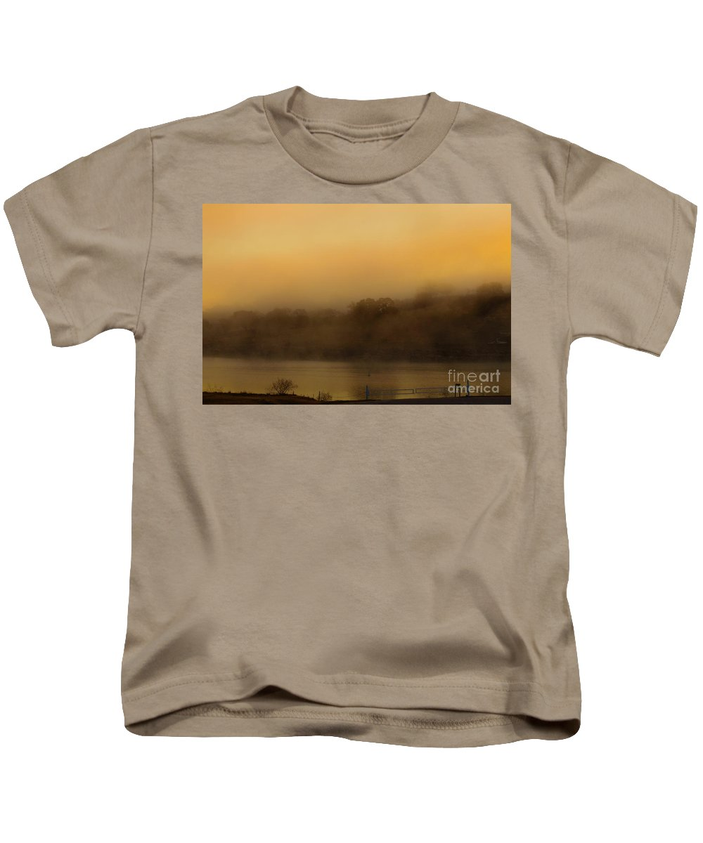 Water Kids T-Shirt featuring the photograph Lagoon Mist by Darryl Patrick
