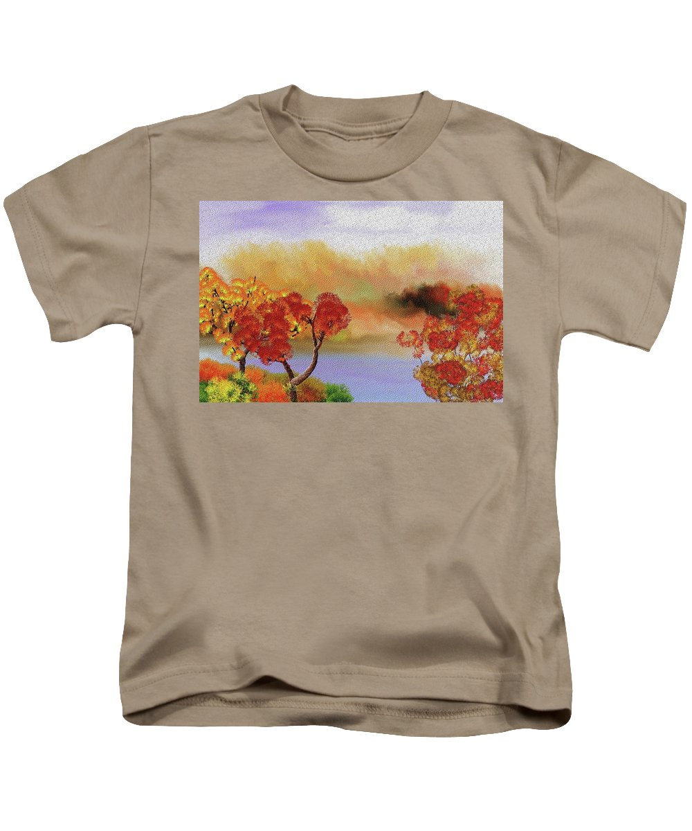 Fine Art Kids T-Shirt featuring the digital art Landscape 031111 by David Lane
