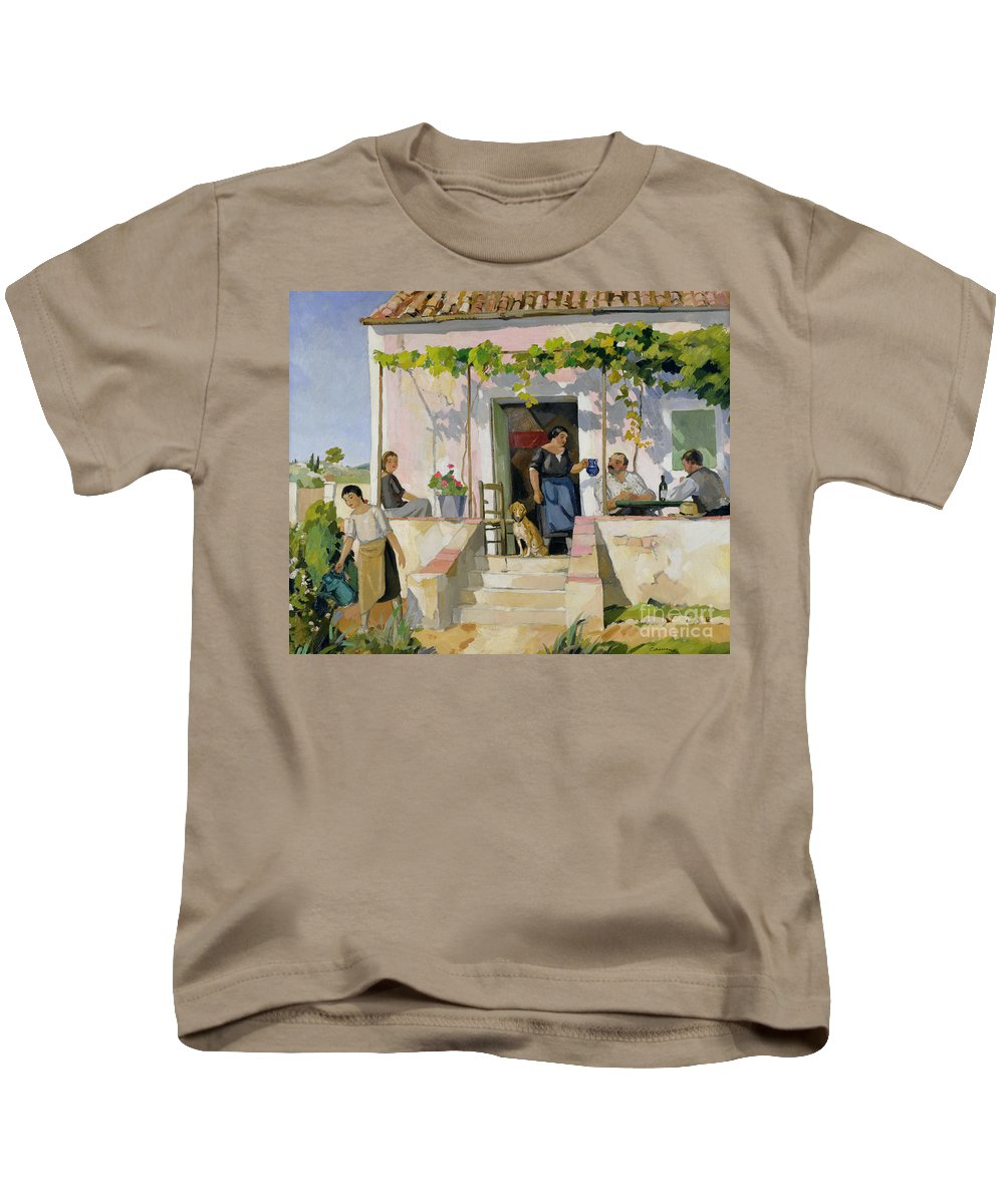 Mazet Kids T-Shirt featuring the painting Le Mazet by Armand Coussens