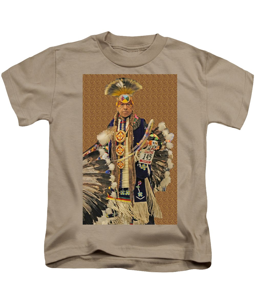 Native Americans Kids T-Shirt featuring the photograph Leader by Audrey Robillard