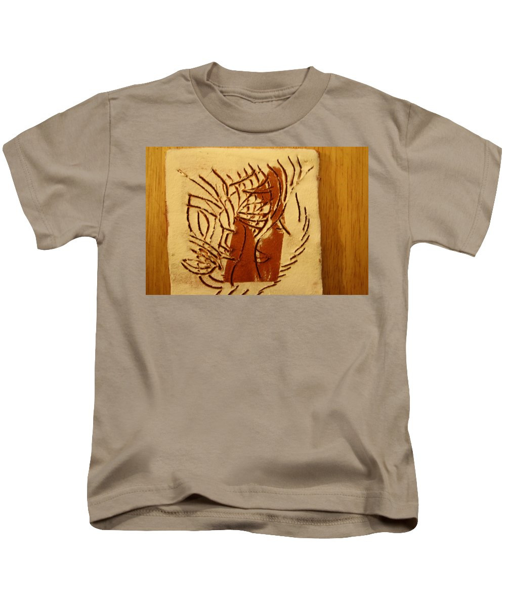 Jesus Kids T-Shirt featuring the ceramic art Leaders - Tile by Gloria Ssali