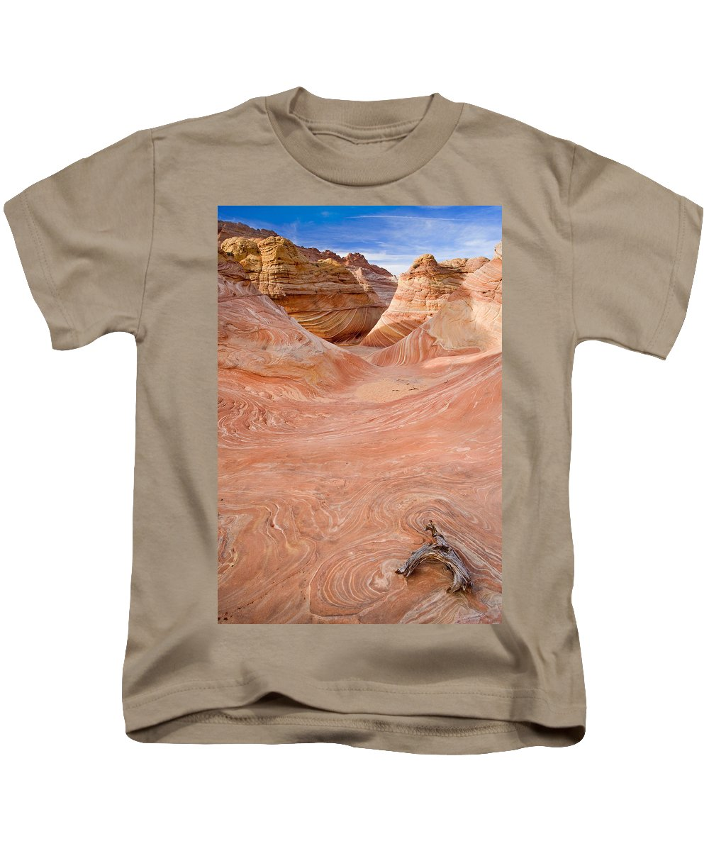 Wave Kids T-Shirt featuring the photograph Left On The Wave by Mike Dawson