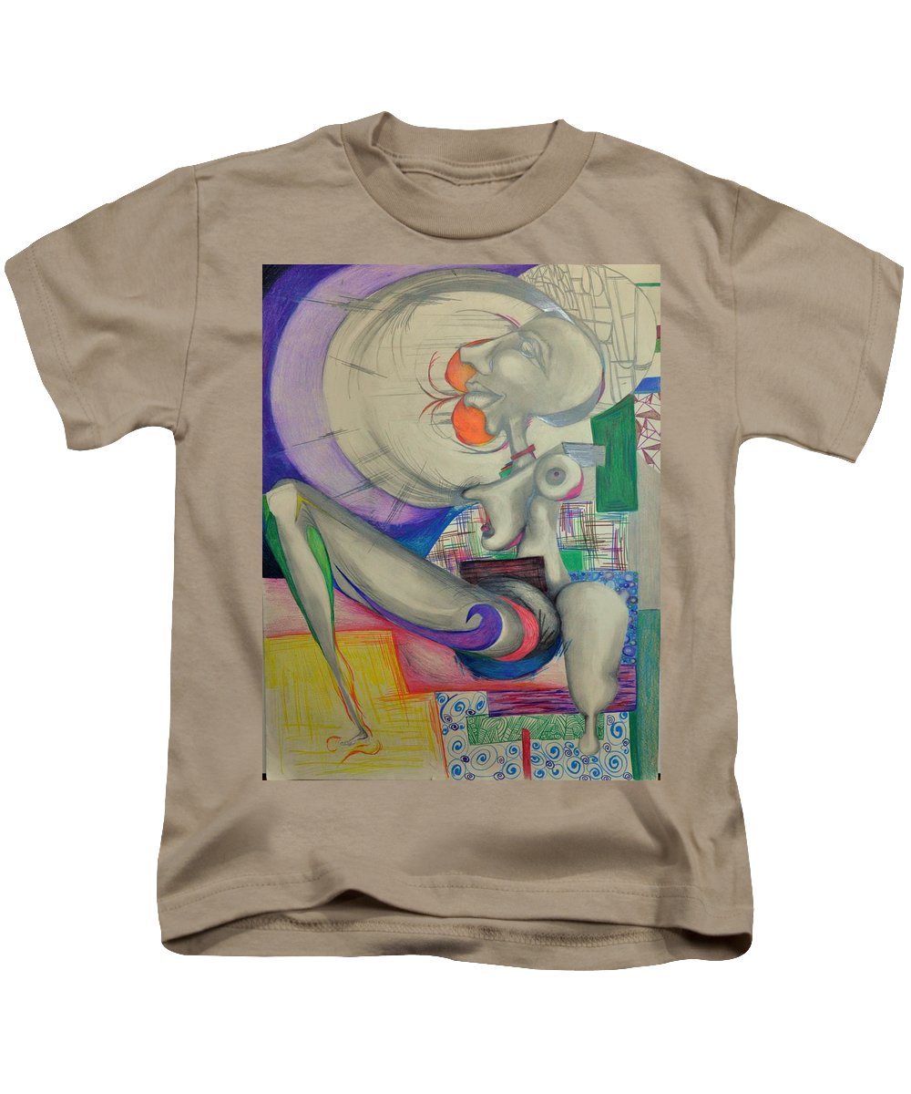 Leg Kids T-Shirt featuring the drawing Leg by Marie Casteel