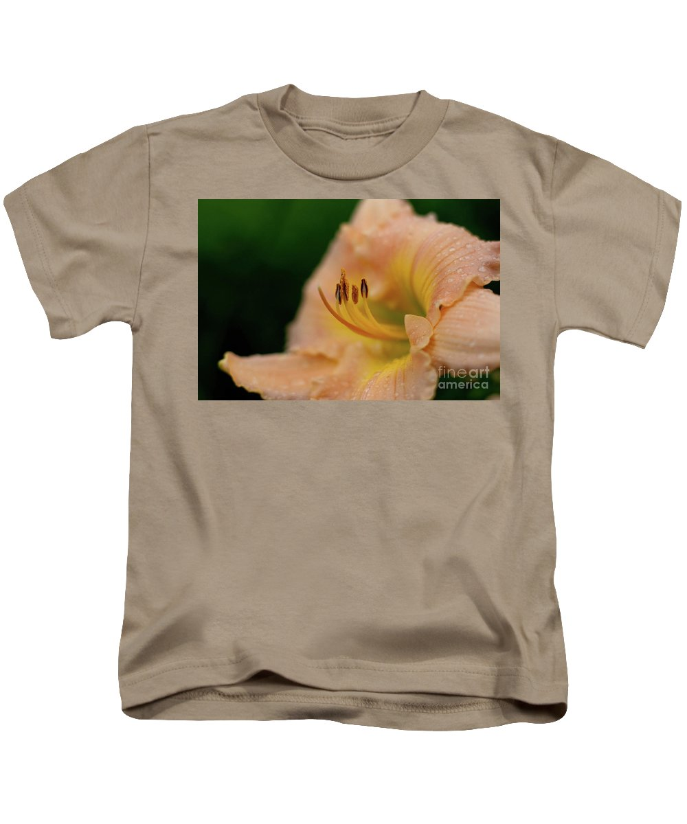 Arrangement Kids T-Shirt featuring the photograph Lily Bloom Profile by Alan Look