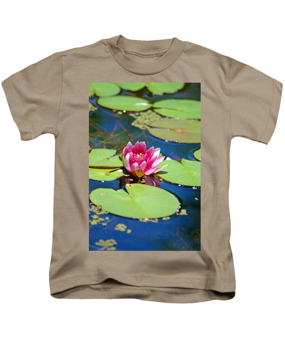 Lily Pond Kids T-Shirt featuring the photograph Lily Pond by Donna Bentley