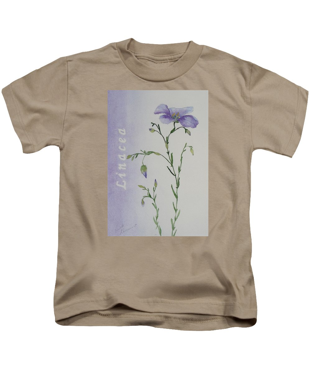 Flower Kids T-Shirt featuring the painting Linacea by Ruth Kamenev