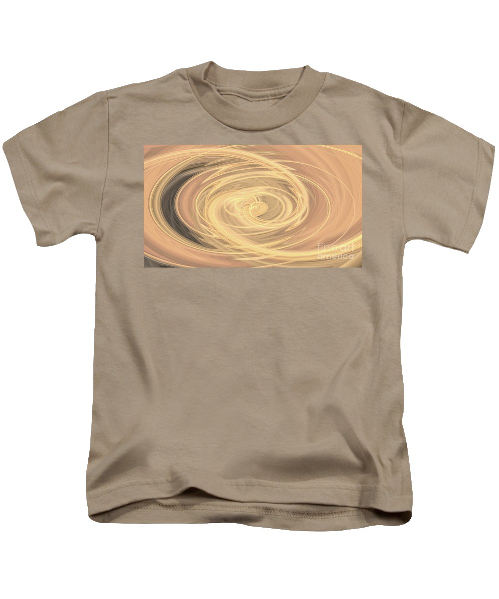 Lines Kids T-Shirt featuring the photograph Line Art In Gold And Yellow by Josephine Cleopahrt