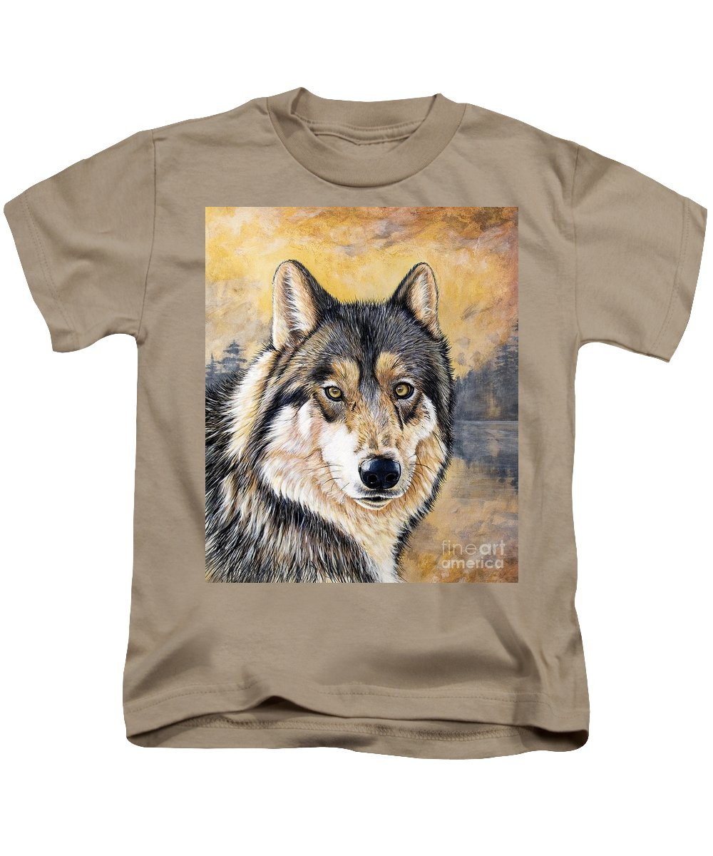 Acrylics Kids T-Shirt featuring the painting Loki by Sandi Baker